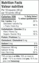 Camino Organic Dark 55% Cacao Dark Chocolate 12 x 100g - Nutrition Facts   752612100196