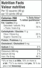 Camino Organic Nightfall 92% Cacao Dark Chocolate 14 x 80g - Nutrition Facts   752612100684