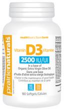 Prairie Naturals Vitamin D3 Softgels 2500IU 180 Softgels|067953006916