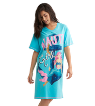 Little Blue House by Hatley Women's Sleepshirt One Size - Nauti Girl on Model | 671374409920
