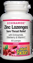 Natural Factors Echinamaide Zinc Lozenges 60 Lozenges  - Cherry | 627765016895