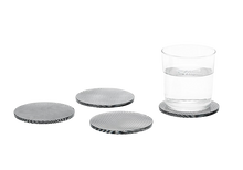 Areaware Glass Grid Coasters - 4 Pack - Mixed | 708389996999