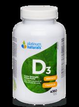 Platinum Naturals Vitamin D3 2500IU Extra Strength 360Softgels|773726033422