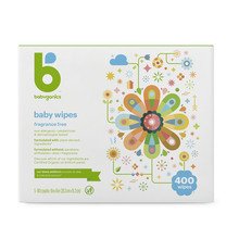 Babyganics Baby Wipes Fragrance Free 400 count|813277017578