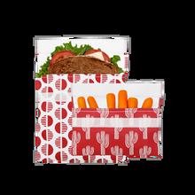 Lunchskins Reusable 2-Pack Bag Set 1 Sandwich + 1 Snack Velcro Set -   Red Desert | 860000586740