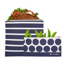 Lunchskins 2-PK Reusable Zippered Bagset Stripe|854735005867
