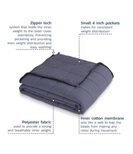 HUSH Weighted Blankets   Classic   309272730357, 309272730364, 309272730371, 309272730388, 309272730395, 309272730401, 309272730418, 309272730425