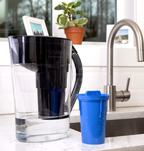 Santevia Mineralized Alkaline Water Pitcher - Black - Product in Action | 708574004836