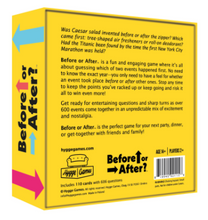 Hygge Games Before or After - Product Back Label | 819940021156