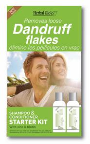 Herbal Glo Removes Loose Dandruff Flakes Shampoo & Conditioner Starter Kit | 063151800288