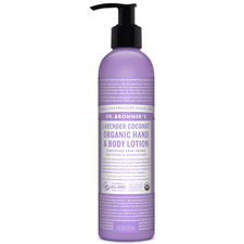 Dr. Bronner's Organic Hand & Body Lotion Lavender Coconut 237ml   018787930045