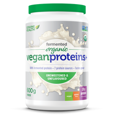 Genuine Health Fermented Organic Vegan Proteins+ Unsweetened & Unflavoured 600 grams | 624777010354