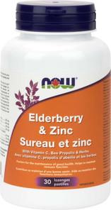 Now Foods Elderberry and Zinc - 30 lozenges | 733739832979