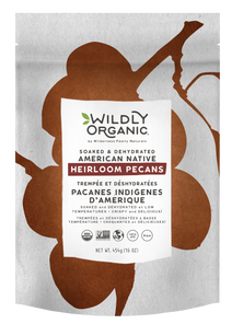 Wildly Organic Soaked & Dehydrated American Native Heirloom Pecans 454g | 898392007000