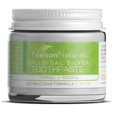 Nelson Naturals Colloidal Silver Toothpaste Fennel   627843433026