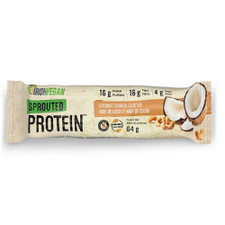 Iron Vegan Sprouted Protein Bar Coconut Cashew Cluster Single   837229007967