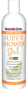 NutriBiotic Fresh Fruit Super Shower Gel 355 ml | 728177010379 | NUT-1009-001 | 16111908-12