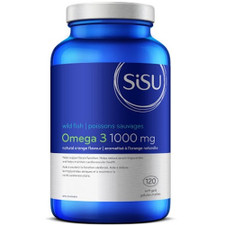 Sisu Omega 3 1000mg - Natural Orange Flavour 120 Softgels | 777672025760