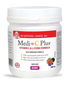 W. Gifford-Jones MD Medi-C Plus Vitamin C & L- Lysine Formula with Magnesium Ascorbate - Berry 300g | 628826005780