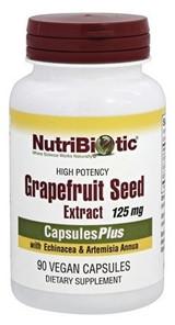 NutriBiotic Grapefruit Seed Extract CapsulesPlus with Echinacea   728177010102