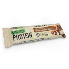Iron Vegan Sprouted Protein Bar Peanut Chocolate Chip Single 62 grams | 837229007882