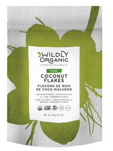 Wildly Organic Dehydrated Fine Coconut Flakes Unsweetened 454 grams | 898392006256