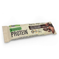 Iron Vegan Sprouted Protein Bar Double Chocolate Brownie Single 64 grams | 837229007875