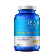 Sisu Kids Chewable Omega 3 Bursts Fruit Punch 120 Chewable Softgels | 777672012432