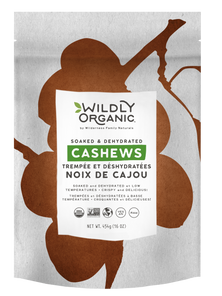 Wildly Organics Soaked and Dehydrated Cashews 454g   UPC: 898392000605