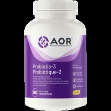 AOR Probiotic-3-90 Veg Capsules | UPC: 62491704219| SKU: AOR-1192-001