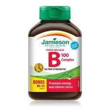 Jamieson Timed Release B Complex 100 Ultra Strength 90+30 Caplets | 064642025487