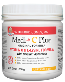 W. Gifford-Jones MD Medi-C Plus Unflavoured with Calcium 300 grams | 628826005896