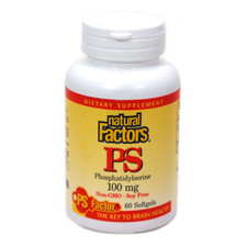 Natural Factors PS Phosphatidylserine 100mg 60 Softgels | 068958026138