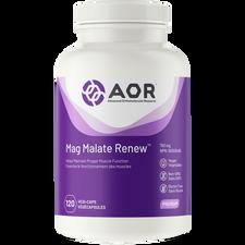AOR Mag Malate Renew 793mg 120 Veg Capsules   UPC: 624917040111