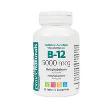 Prairie Naturals Vitamin B-12 5000mcg 90 Tablets | 067953004554