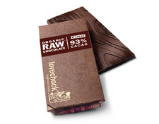 Lovechock 93% Cacao Organic Raw Chocolate 70 g | 8718421156498 | 8718421156504