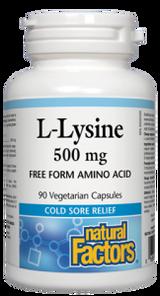 Natural Factors L-Lysine 500mg Vegetarian Capsules | 068958028231