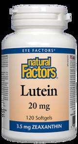 Natural Factors Lutein 20mg 120 Softgels | 068958010335