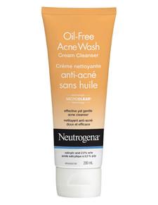 Neutrogena Oil Free Acne Wash Cream Cleanser | 0062600430120