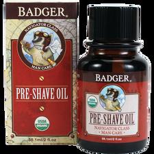 Badger Balm Navigator Class Organic Pre-Shave Oil | 634084130126