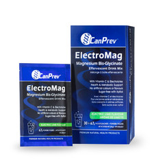 CanPrev ElectroMag Magnesium Bis-Glycinate Effervescent Drink Mix   854378001745