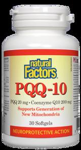 Natural Factors PQQ-10 PQQ 20mg Coenzyme Q10 200mg 30 Softgels   068958026176
