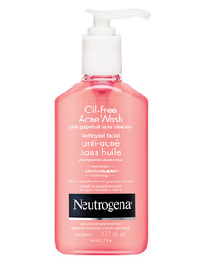 Neutrogena Oil Free Acne Wash Pink Grapefruit Facial Cleanser 177mL |