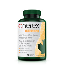 Enerex Osteo Cal:Mag 90 soft tablets | 628557180909 New Label Image