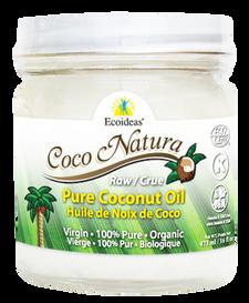 Ecoideas Coco Natura Raw Pure Coconut Oil 444 ml | 875405002504