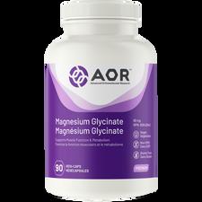 AOR Magnesium Glycinate 90mg 90 Vegi-Caps | UPC: 624917043600 | SKU: AOR-1208-001