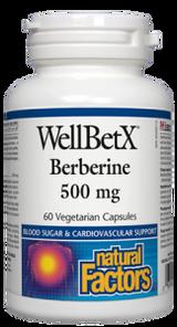 Natural Factors WellBetX Berberine 500mg 60 Vegetarian Capsules   068958035444