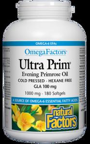 Natural Factors OmegaFactors Ultra Prim Evening Primrose Oil 1000mg 180 Softgels | 068958023472