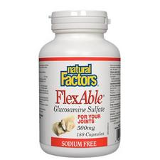 Natural Factors FlexAble Glucosamine Sulfate 500mg Capsules | 068958026596