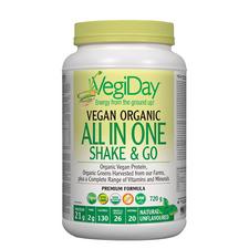 VegiDay Vegan Organic All in One Shake & Go - Unflavoured 720g | 628235330381